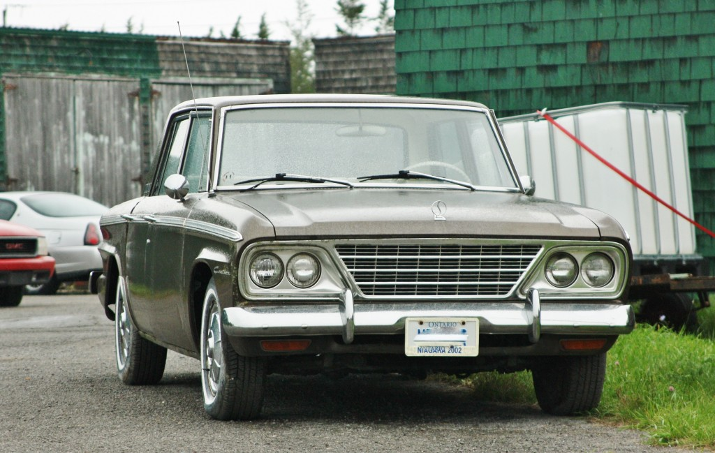 1964-65 Studebaker Commander (Lark), spotted inside the former RCAF Picton air base in Ontario.