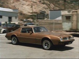 Jim Rockford races to the rescue (or the bar) in his trusty Pontiac Firebird Esprit.