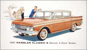 This '61 Rambler ad shows sensible people enjoying a sensible car.
