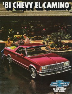 The ad says 'Chevy Trucks', but the El Camino was all car underneath.