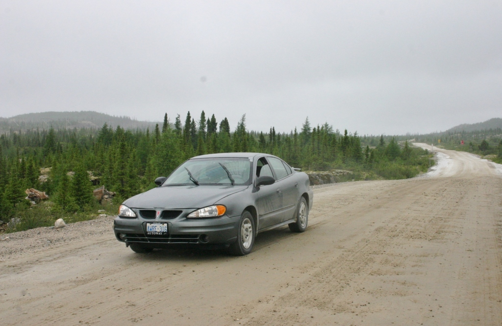 Driving the Trans-Labrador Highway in 2009 in the Grand Am '1.0'