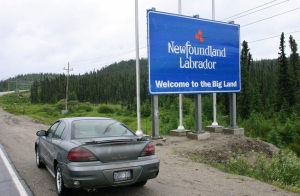 With the exception of the Newfoundland ferry in Blanc-Sablon, Quebec, tis is the only way to leave (or enter) the Big Land by car.