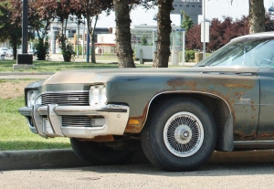 The LeSabre had beefier bumpers for '72, in anticipation of federal 5-mph crash regulations coming down the pipe.