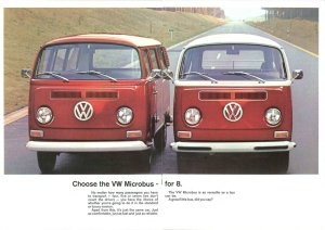 Ready for soccer practice or a Woodstock revival, these '72 VWs had space to spare.