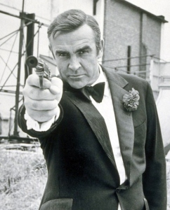 Sean Connery (the life of any party) in 'Diamonds Are Forever'.