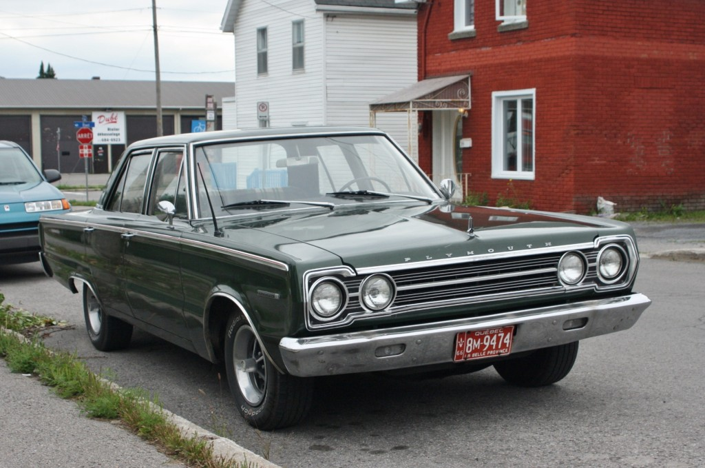 1966 Plymouth Belvedere, spotted in Aylmer, Quebec.