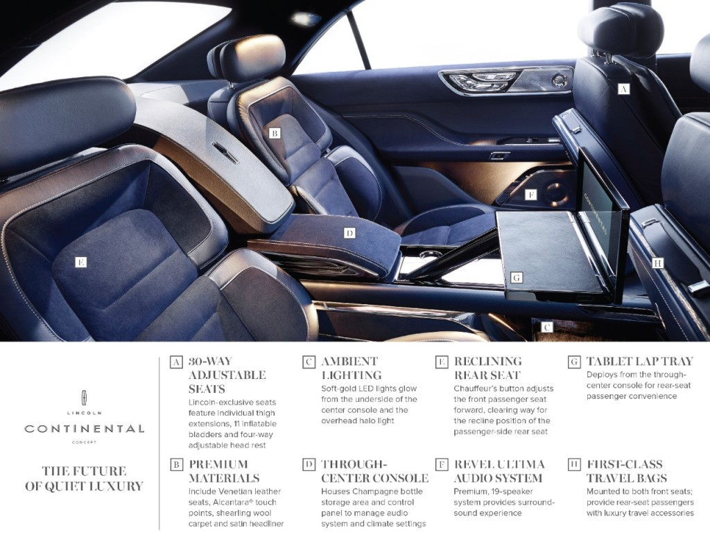 If the interior of a front-drive Continental looks like this, maybe people will be forgiving (Image: Ford Motor Company)