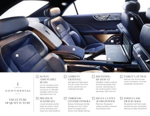 Cocoon yourself in luxury, says Lincoln. I wouldn't be calling shotgun with this ride (Image: Ford Motor Company)