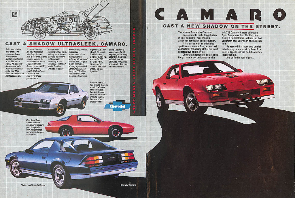 When Chevy first introduced a 4-cylinder Camaro in 1982, it 'boasted' 90 horsepower.