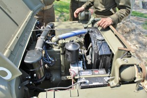 The Willys 'Go Devil' engine was chosen for the Jeep due to its small size and robust power.
