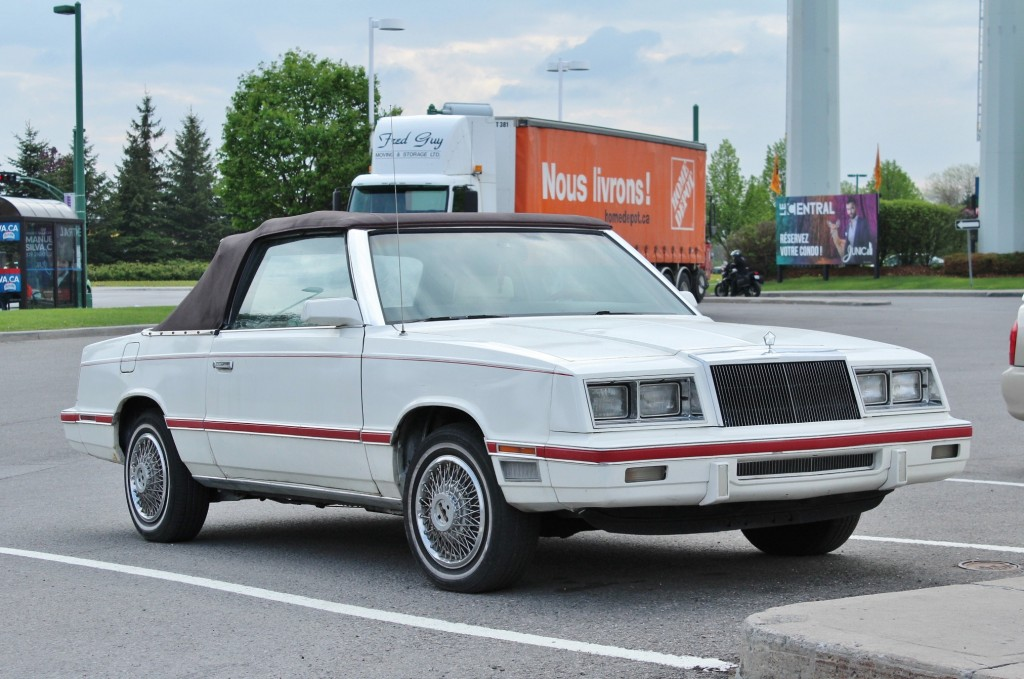 Reagan-era pride: 1982-83 Chrysler LeBaron, spotted in Gatineau, Quebec.