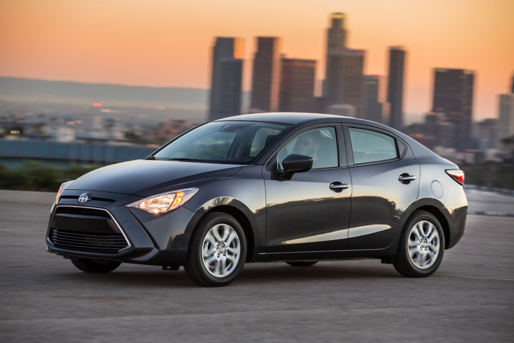 The 2016 Scion iA, not to be confused with the Mazda 2 (Image: Toyota Motor Corporation)