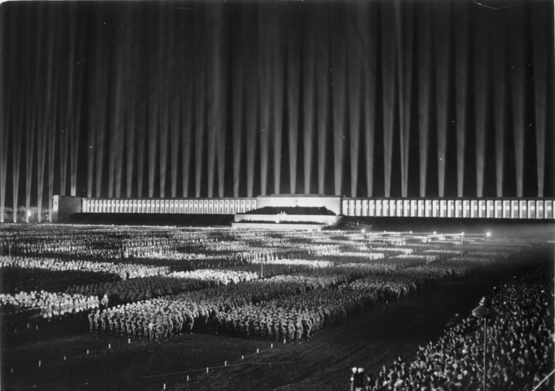 Albert Speer's 'Cathedral of Light', Germany, 1937 (Image via)
