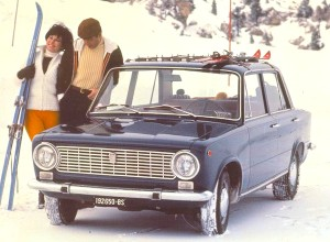 Everyone in 1970s car ads skied, it seems.