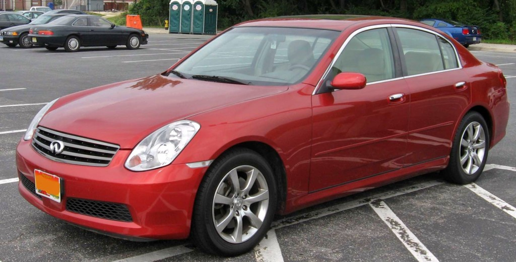 2006 Infiniti G35: a canvas waiting for cheese. (IFCAR/Wikimedia)