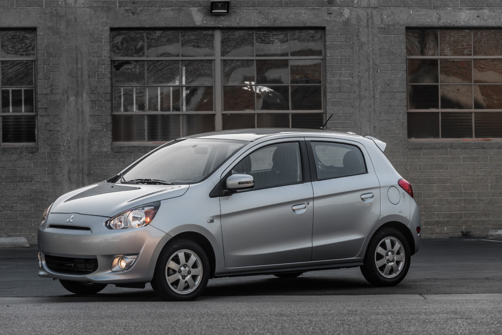 """Hey, is that the 2015 Mitsubishi Mirage ES??"" (Image; Mitsubishi Motors)"