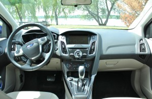 Inside the cabin, the gasless Focus doesn't give away its special secret.