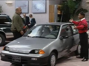 The 1992 Geo Metro appeared as the fictional 'Accountant' in this episode of The Fresh Prince of Bel-Air.