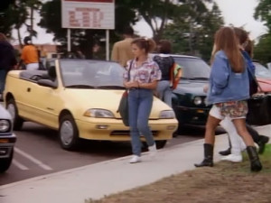 Too cool for school? Not according to this screen shot from Beverly Hills, 90210.
